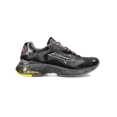 Sneakers de Piel Premiata SHARKYD 068 Color Negro