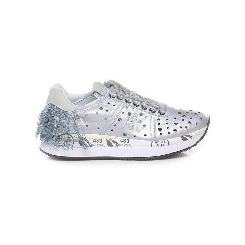 Sneakers de Piel Premiata CONNY 4730 Color Plata