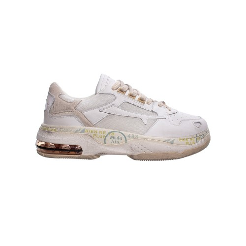 Sneakers de Piel Premiata DRAKE 0017 Color Blanco