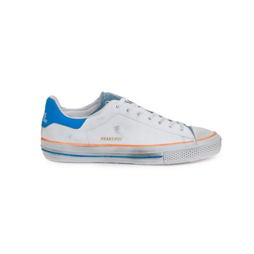 Sneakers de Piel Hidnander STARLESS LOW Color Blanco y Denim