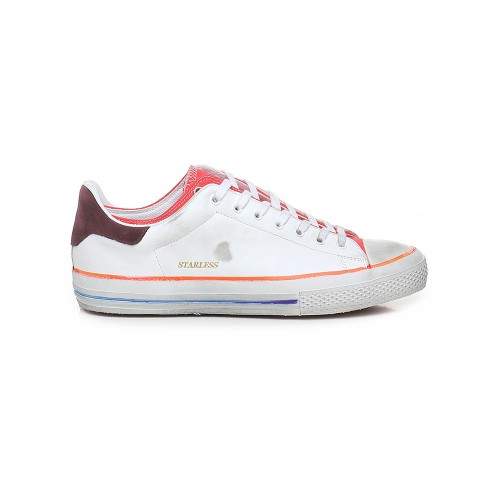 Sneakers de Piel Hidnander STARLESS LOW Color Blanco y Rojo
