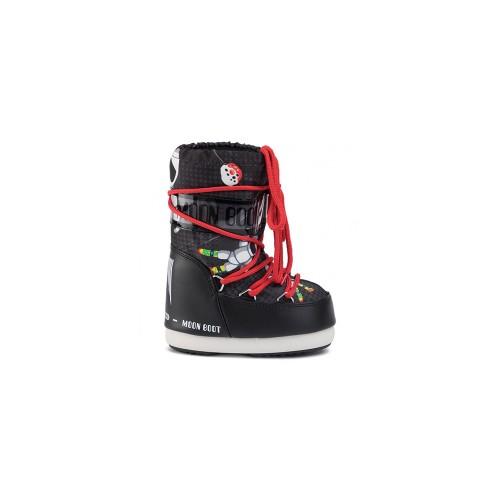 Snow Shoes MOON BOOT JR BOY SPACE MAN Colour Black