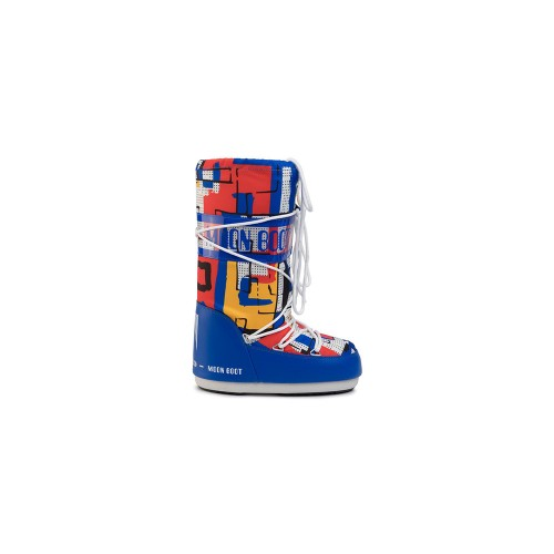 Snow Shoes MOON BOOT JR BOY ABSTRACT Colour Printed