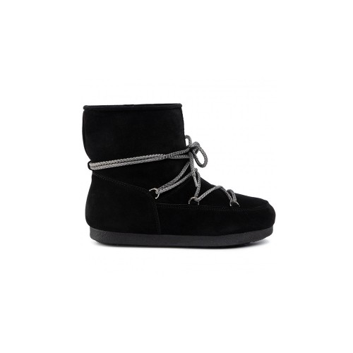 Botín Para Niños MOON BOOT FAR SIDE JR LOW SUEDE Color Negro