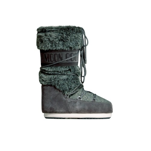 Botas Altas MOON BOOT CLASSIC FAUX FUR TARTAN Color Azul...