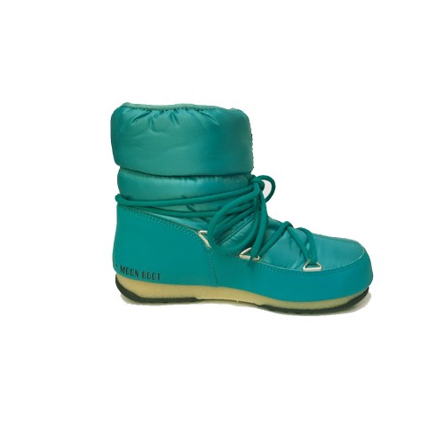 Booty MOON BOOT LOW NYLON WP 2 Colour Turquoise / Smerald