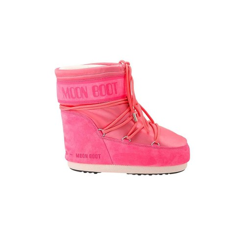 Snow Booty MOON BOOT CLASSIC LOW SATIN Color Fuchsia