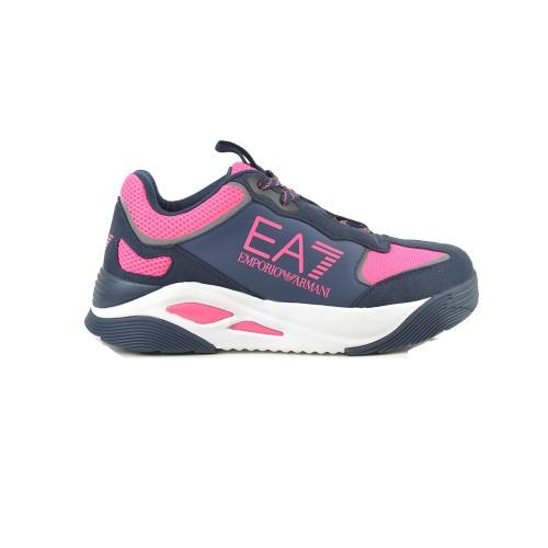 Sneakers EA7 Emporio Armani X8X067 Colore Blu Navy y Fucsia