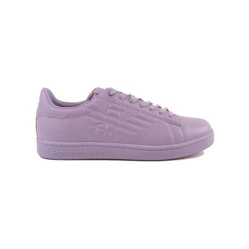 Sneakers de Piel EA7 Emporio Armani X8X001 Color Lila