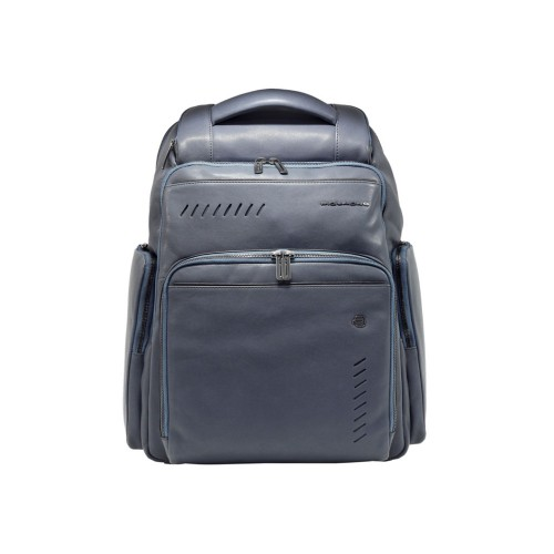 Leather Backpack Piquadro CA5340S110/BLU Color Navy Blue