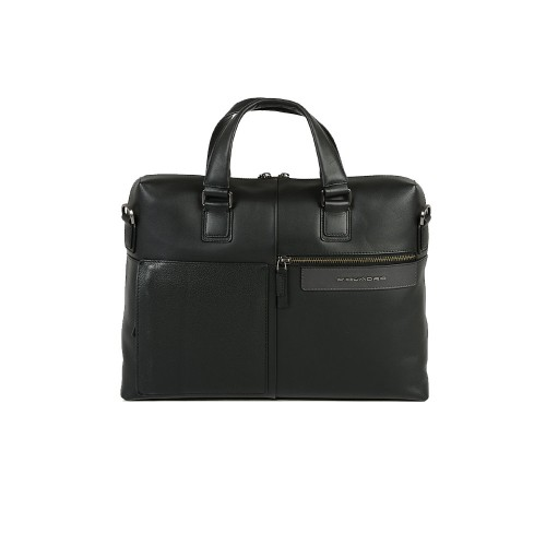Leather Briefcase Piquadro CA4098W96/N Color Black