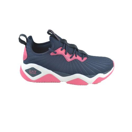 Sneakers EA7 Emporio Armani X8X071 XK166 Colore Blu Navy...