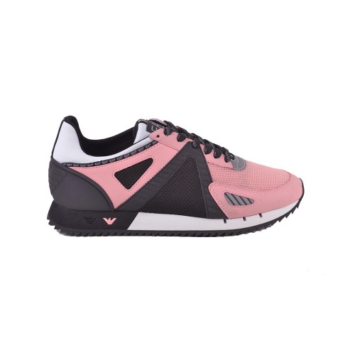 Sneakers EA7 Emporio Armani X8X076 XK187 Color Negro y Rosa