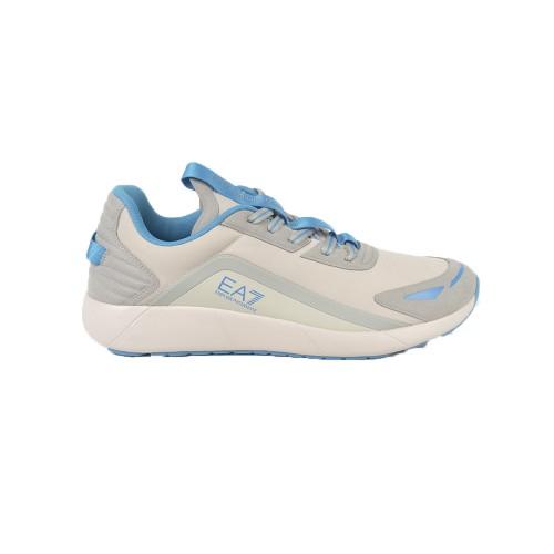 Sneakers EA7 Emporio Armani X8X077 XK189 Color Gris y Azul