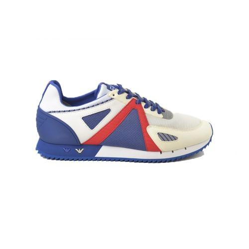 Sneakers EA7 Emporio Armani X8X076 XK187 Color Blanco y Azul