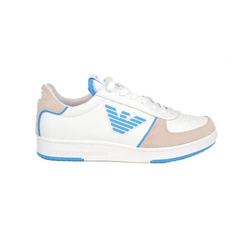 Sneakers EA7 Emporio Armani X8X073 XK176 Color Blanco y Azul
