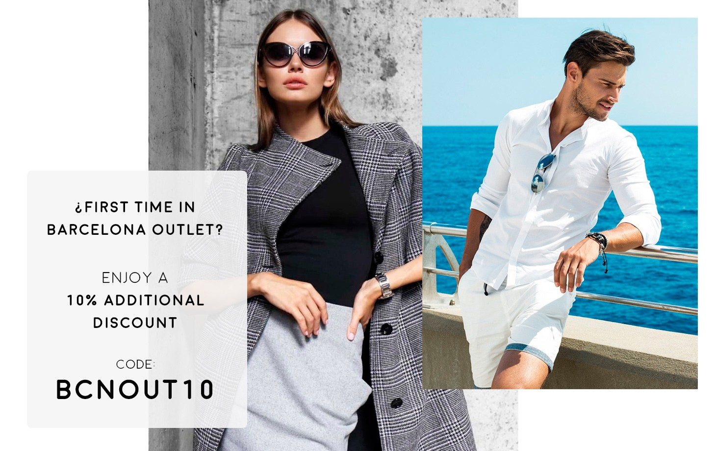 10% discount on your first online purchase at Barcelona Outlet