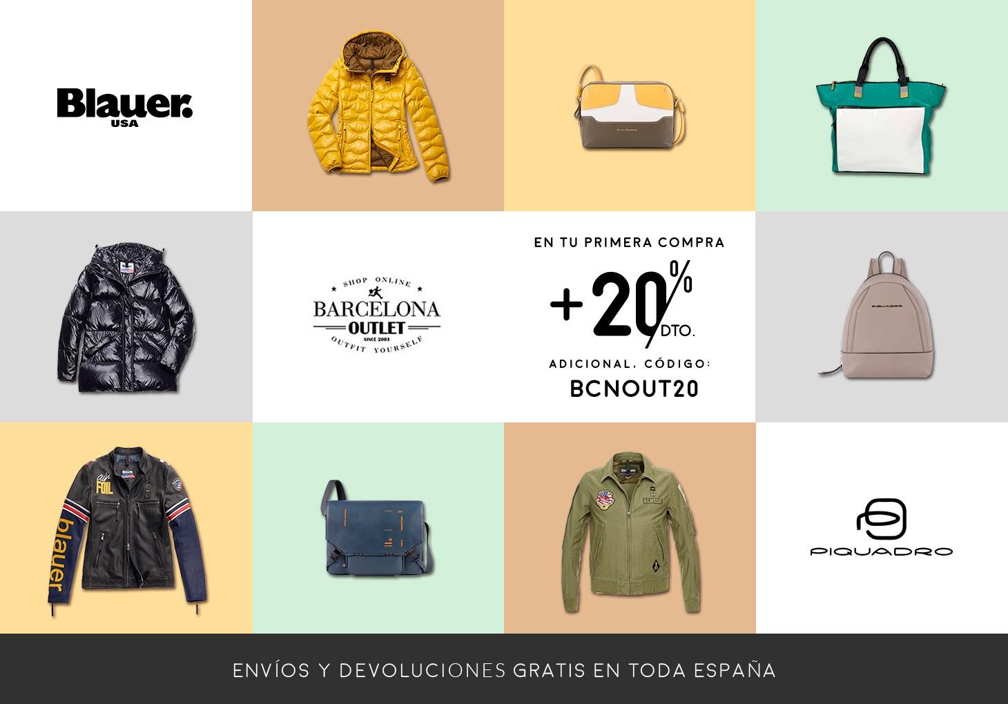 Barcelona Outlet - 20% en tu primera compra